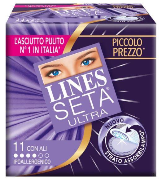 LINES SETA ULTRA ASSORBENTI CON ALI 11 PEZZI - Farmafirst.it