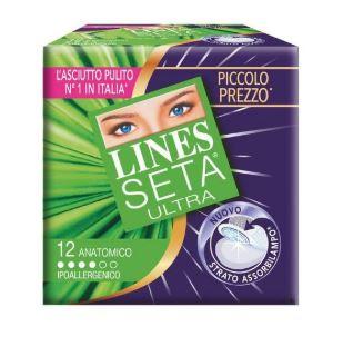 LINES SETA ULTRA ASSORBENTI ANATOMICI 12 PEZZI - Farmafirst.it