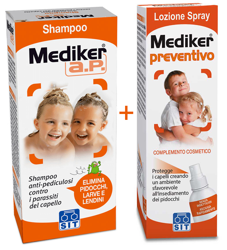 SHAMPOO ANTIPARASSITARIO ANTIPEDICULOSI MEDIKER 100ML - Farmacia Centrale Dr. Monteleone Adriano