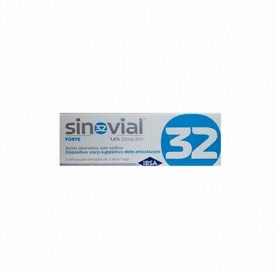 Sinovial Forte - 1,6% di Acido Ialuronico - 1 siringa preriempita da 32 MG/ 2 ml - Farmacia Castel del Monte