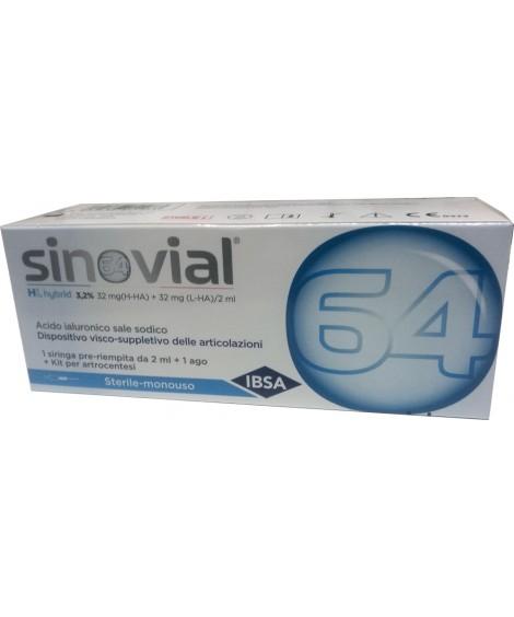 Sinovial HL Acido Ialuronico per Infiltrazioni 32 mg + 32 mg 2 ml 1 Siringa -