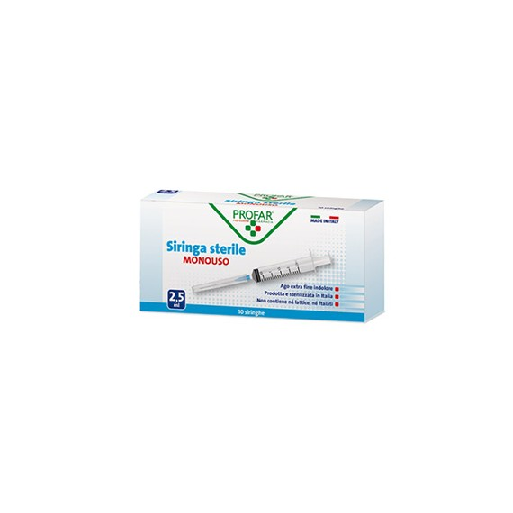 PROFAR SIRINGA MONOUSO 2,5ML - Farmapage.it