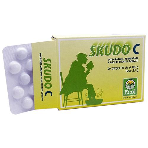 SKUDO C Integratore Vitamina C DIfese Immunitarie 50 TAVOLETTE 500 mg - Farmastar.it