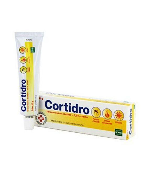 CORTIDRO Crema 0,5% Per Punture Di Insetto, Eritemi ed ustioni - 20g - Farmapage.it