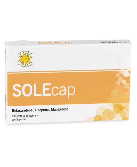 TuaFarmaonLine SOLEcap Integratore Alimentare Protezione Solare 30 Capsule - latuafarmaciaonline.it