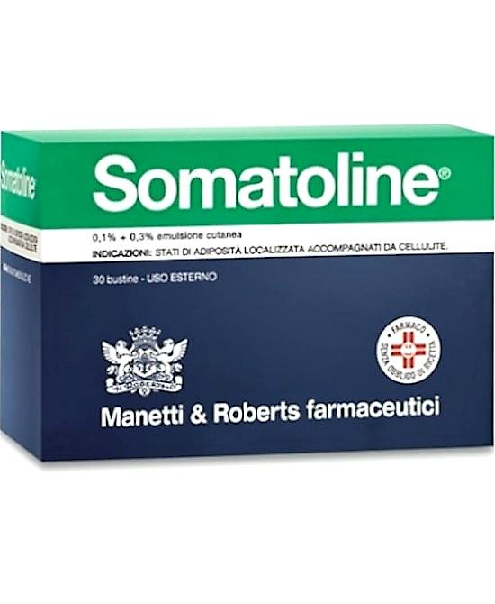 Somatoline 0,1% + 0,3% Emulsione Cutanea 30 Bustine - Farmaci.me