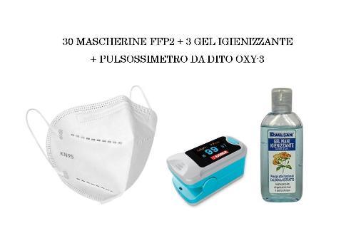 Special Box Protezione Virus - 30 Mascherine FFP2 + 3 Gel Igienizzante + Saturimetro GIMA - Farmaconvenienza.it