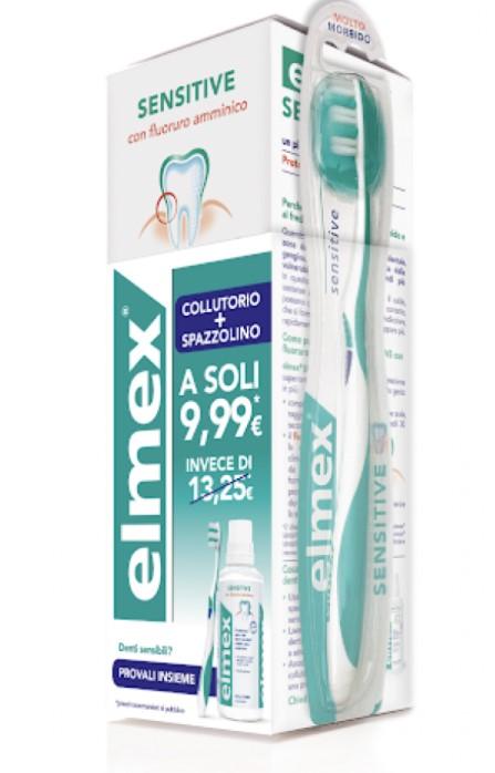 SPECIAL PACK ELMEX SENSITIVE COLLUTORIO 400 ML + SPAZZOLINO - Farmacia33