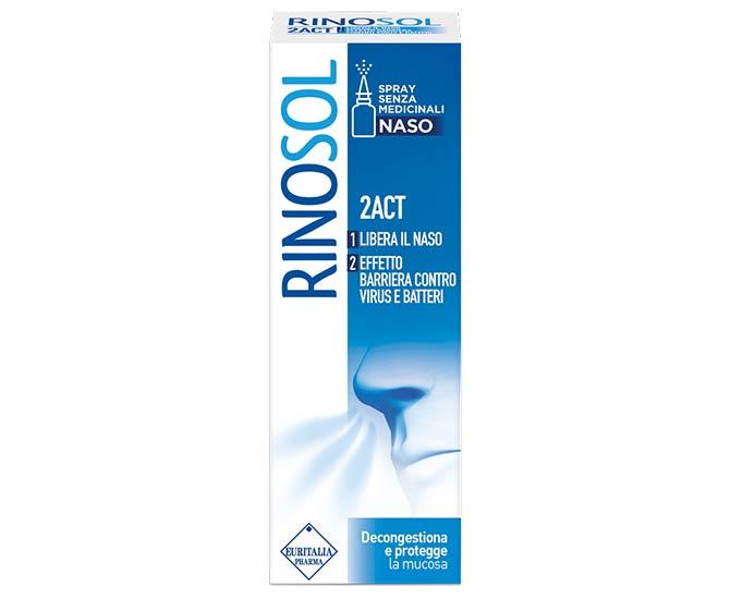 Rinosol 2act Spray Senza Medicinali Naso 15 ml - Farmacielo