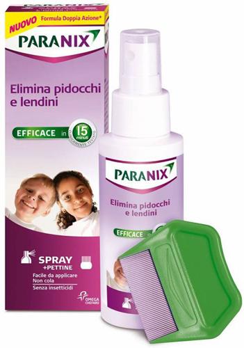 SPRAY PARANIX TRATTAMENTO ANTIPEDICULOSI 100 ML + PETTINE - Farmacia Centrale Dr. Monteleone Adriano