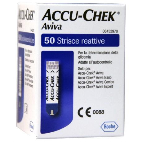STRISCE MISURAZIONE GLICEMIA ACCU-CHEK AVIVA CONFEZIONE DA 50 PEZZI - Farmafamily.it