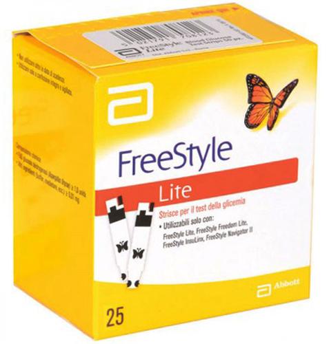 STRISCE MISURAZIONE GLICEMIA FREESTYLE LITE 25 PEZZI - Farmacia Centrale Dr. Monteleone Adriano