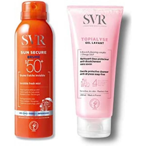 Sun Secure Brume Spf50+ + ECURE BRUME SPF50+ Topialyse Gel Lavante 200 Ml - latuafarmaciaonline.it