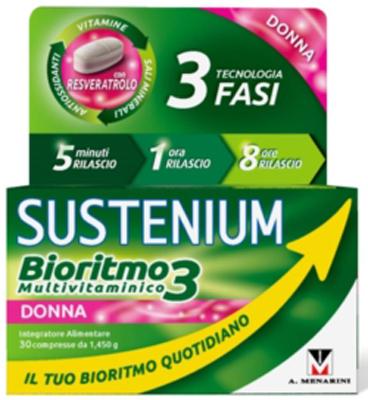 SUSTENIUM BIORITMO3 DONNA ADULTA 30 COMPRESSE - Farmacia Centrale Dr. Monteleone Adriano