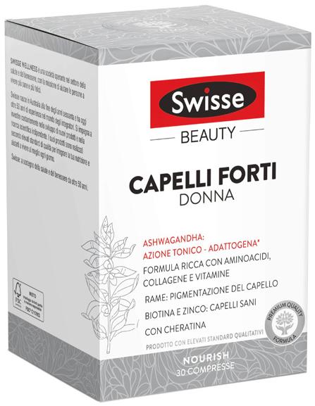 SWISSE CAPELLI FORTI DONNA 30 COMPRESSE - Farmacia Centrale Dr. Monteleone Adriano