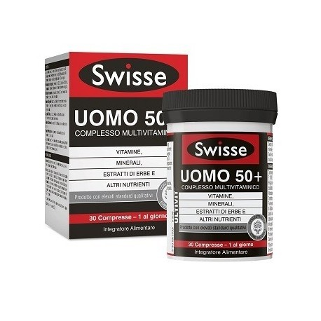 SWISSE MULTIVITAMINICO UOMO 50+ 30 COMPRESSE - Iltuobenessereonline.it