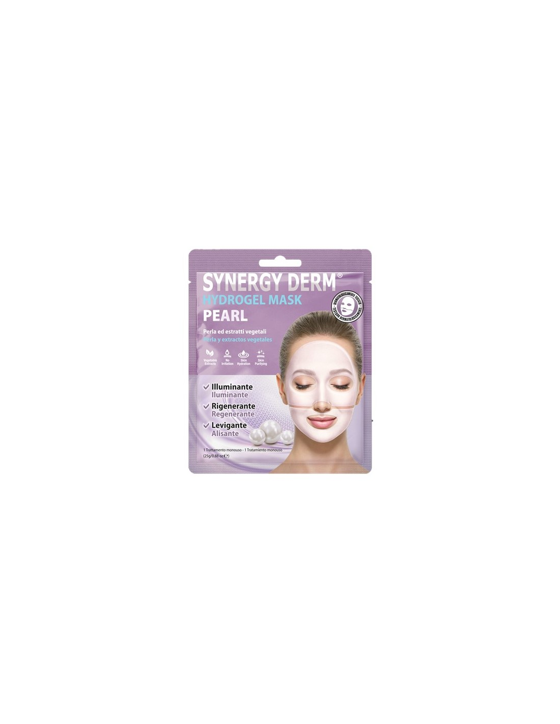 PLANET PHARMA SYNERGY DERM HYDROGEL MASK PEARL - Farmastar.it