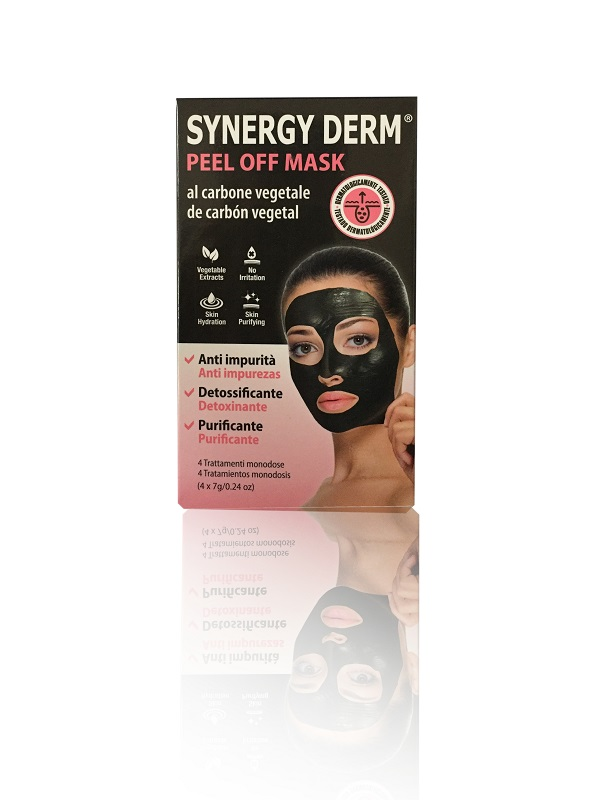 PLANET PHARMA SYNERGY DERM PEEL OFF MASK MASCHERA CARBONE VEGETALE 4 TRATTAMENTI MONODOSE 7 G - Farmastar.it
