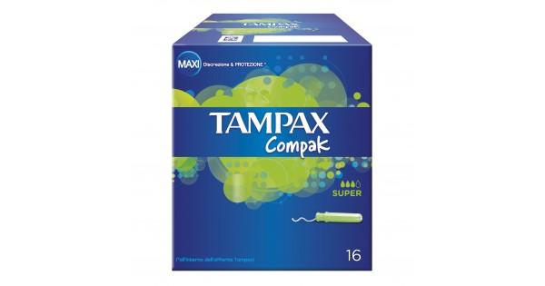 TAMPAX COMPAK SUPER 16 PEZZI - DrStebe