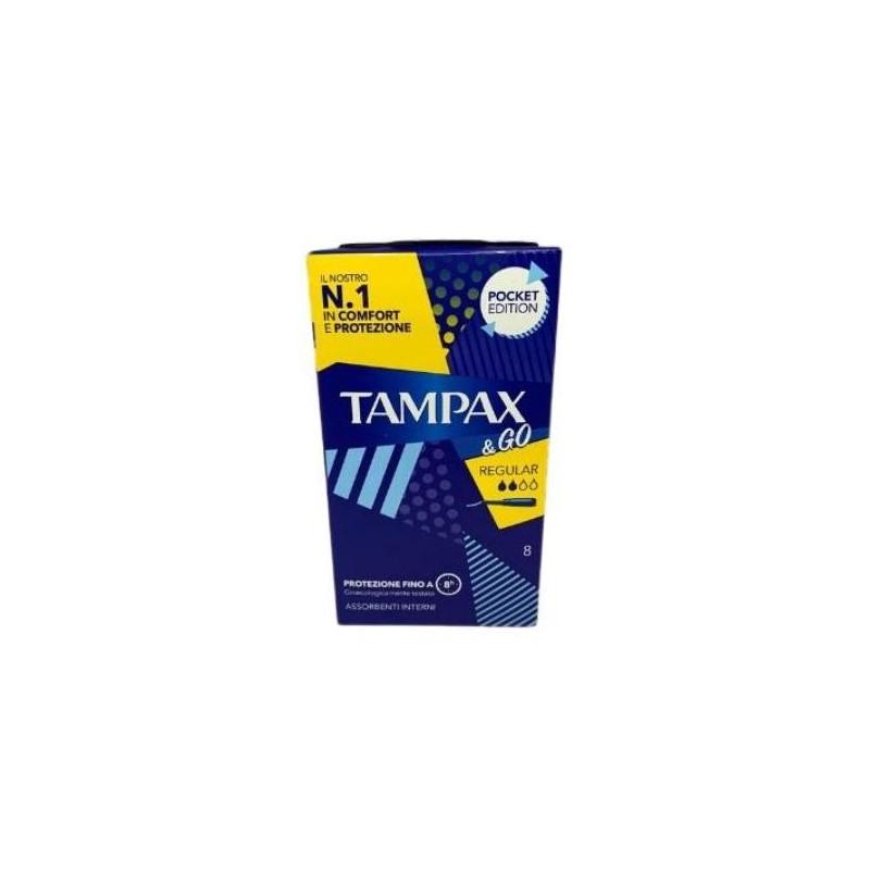 TAMPAX&GO REGULAR 8P PEZZI - FARMAPRIME