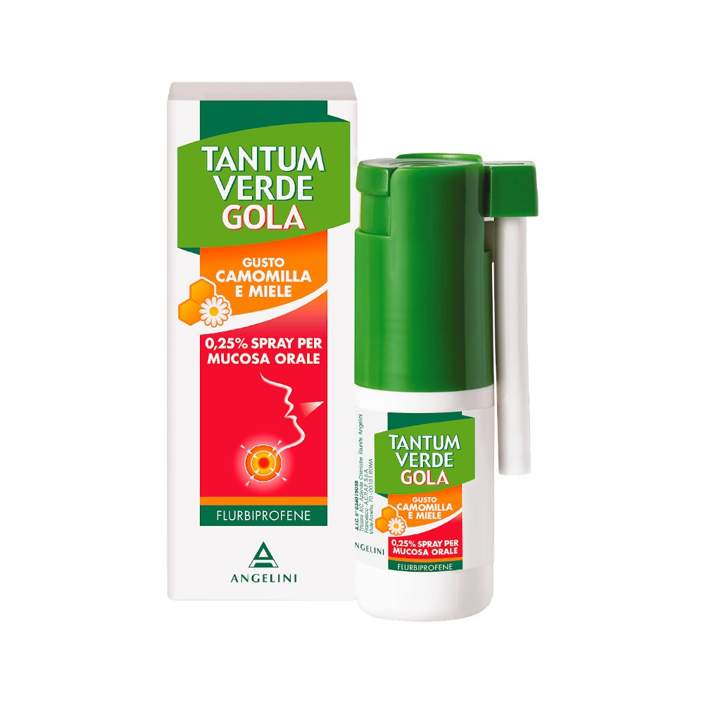 TANTUM VERDE GOLA SPRAY 15ML Camomilla e Miele - Farmapage.it