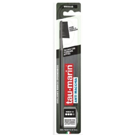 TAUMARIN SPAZZOLINO PROFESSIONAL BLACK CON ANTIBATTERICO - Farmafamily.it