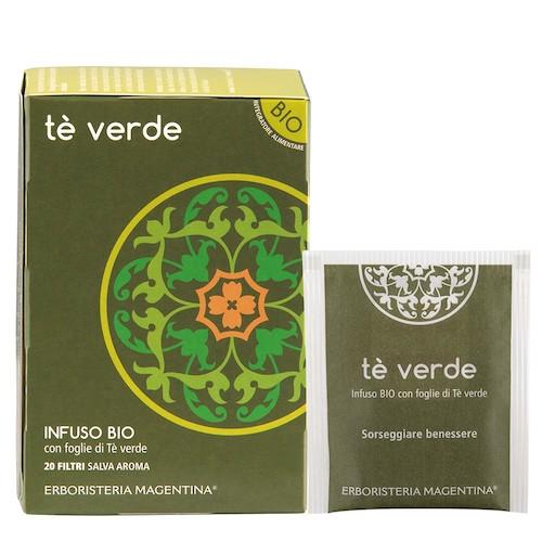 Tè Verde Infuso Bio con Foglie di Tè verde 20 Filtri - Arcafarma.it