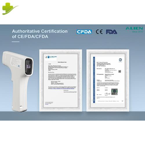 Termometro ad Infrarossi No Contact per misurare la temperatura corporea e la febbre a distanza senza contatto - Farmastar.it