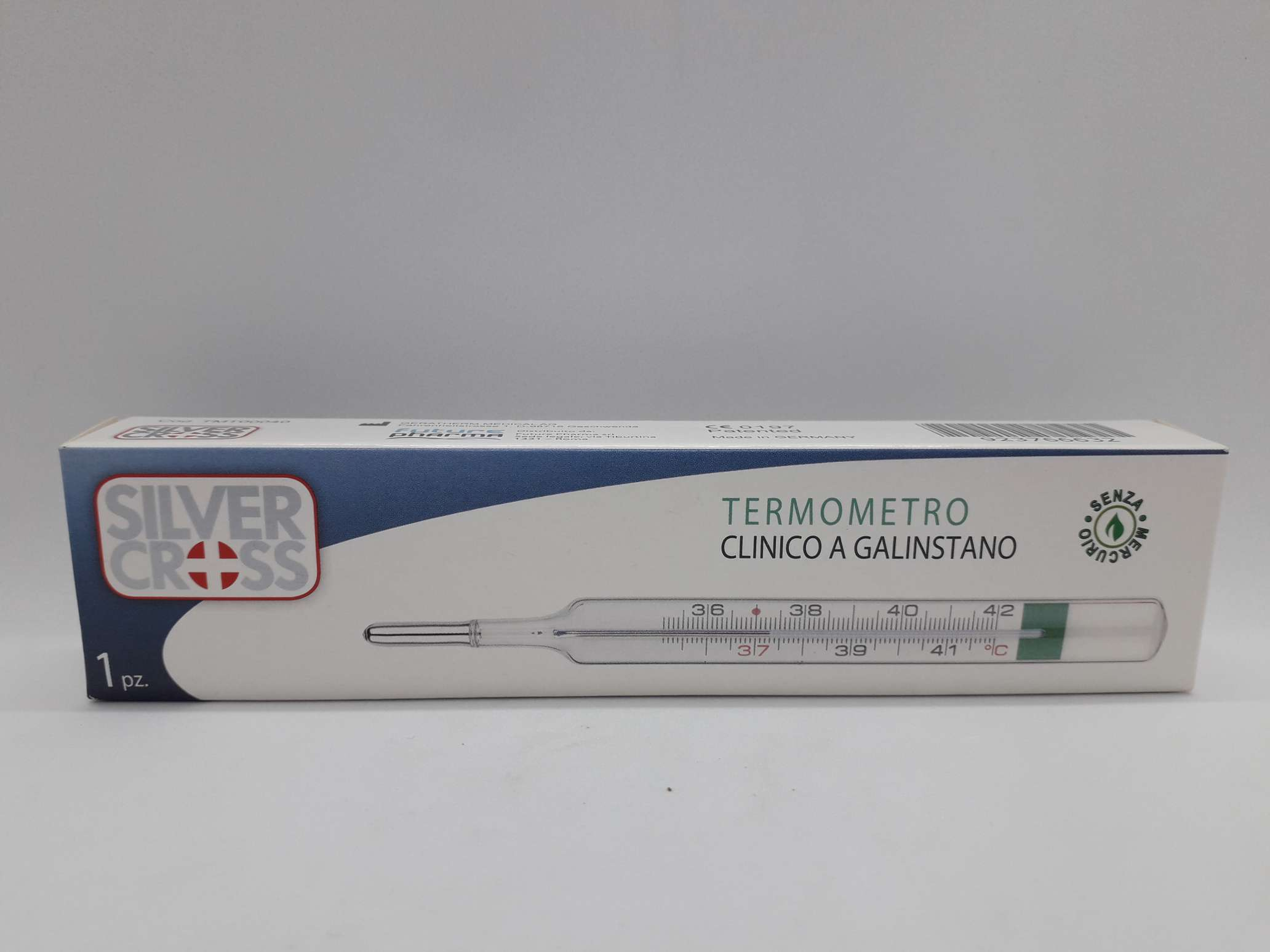 TERMOMETRO DIGITALE SILVER CROSS PUNTA RIGIDA - Farmaciaempatica.it