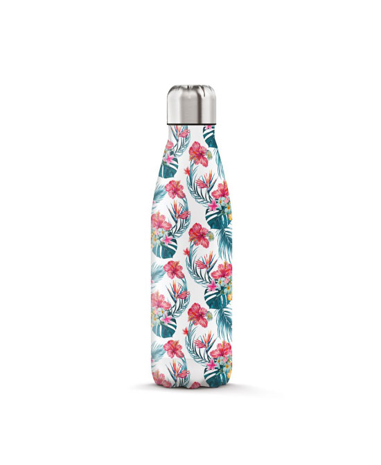 THE STEEL BOTTLE ART 500 ML 6 EXOTIC FLOWERS - latuafarmaciaonline.it