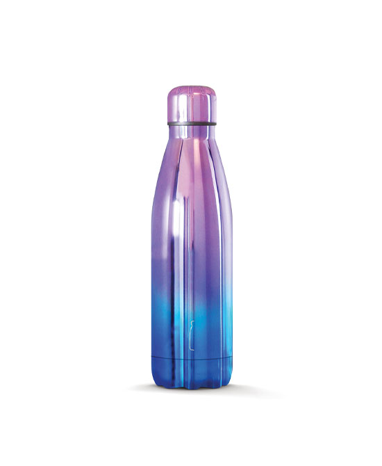 THE STEEL BOTTLE CHROME SERIES 17 BLUE PURPLE - latuafarmaciaonline.it