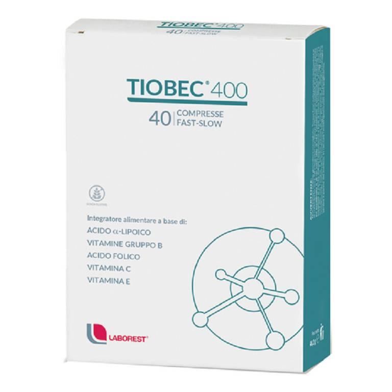 TIOBEC 400 40 COMPRESSE FAST-SLOW - Farmacia Castel del Monte
