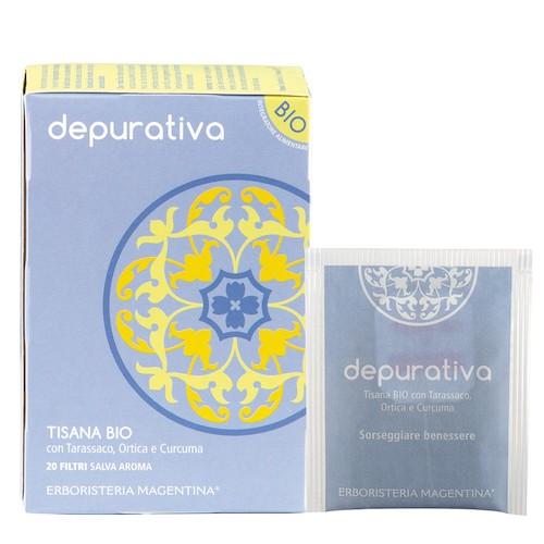 Tisana Bio Depurativa con Tarassaco Ortica e Curcuma 20 Filtri - Arcafarma.it