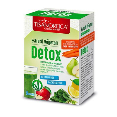 TISANOREICA ESTRATTO VEGETALE DETOX 8 BUSTINE 5 G - Farmastar.it