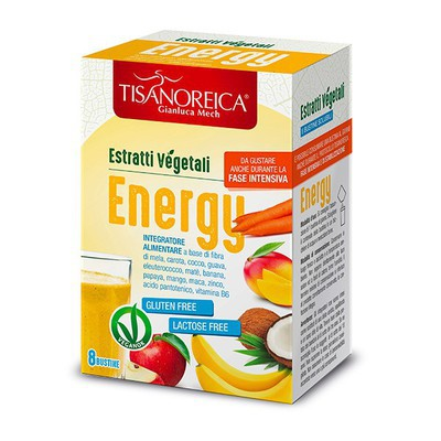 TISANOREICA ESTRATTO VEGETALE ENERGY 8 BUSTINE 5 G - Farmastar.it
