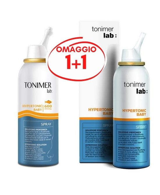 Tonimer Lab Hypertonic 600 Baby Spray 100ml + 100ml - Farmapage.it