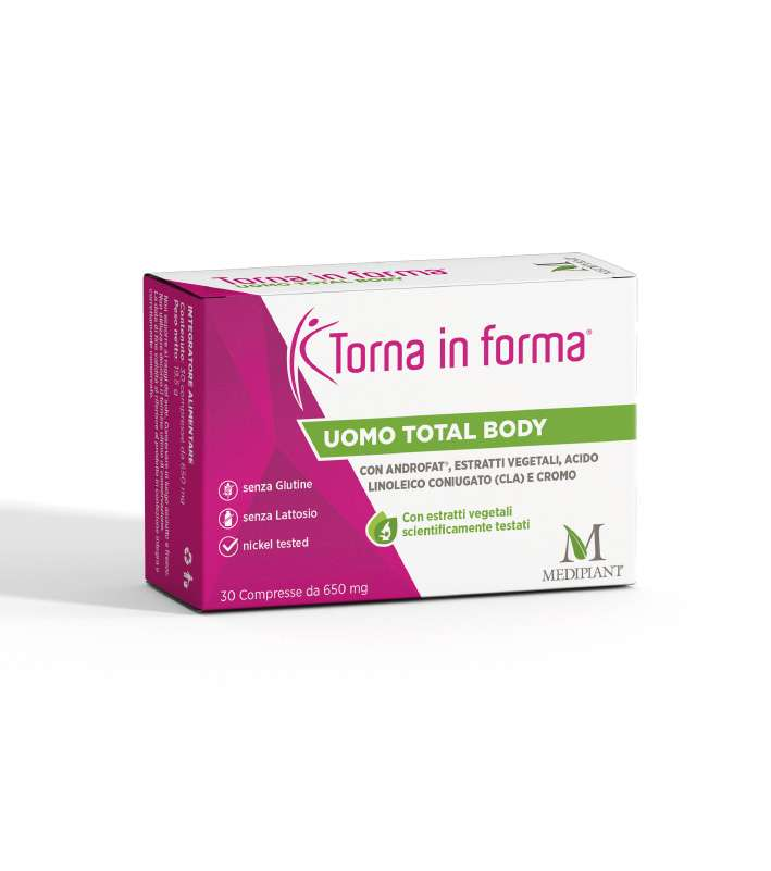 Torna in Forma Uomo Total Body 30 Compresse - Arcafarma.it