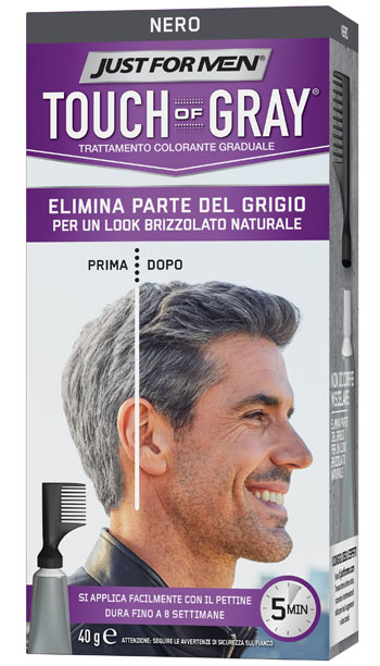 JUST FOR MEN TOUCH OF GRAY NERO 40 G - Farmaciapacini.it