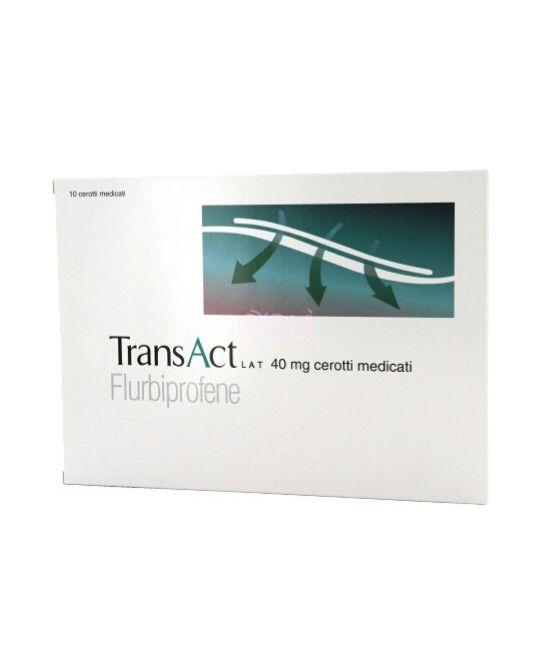 Transact Lat 40mg - 10 Cerotti medicati  - Farmapage.it
