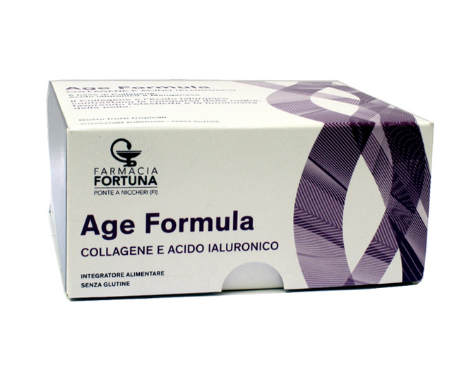 TuaFarmaOnline Age Formula Collagene Acido Ialuronico Integratore 20 Flaconcini - La tua farmacia online