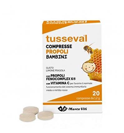 TUSSEVAL GOLA BAMBINI 24 COMPRESSE - Farmacia Bartoli