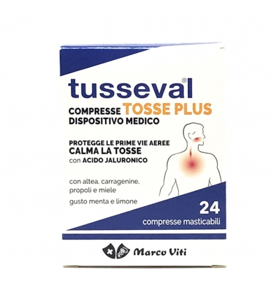 TUSSEVAL TOSSE PLUS 24 COMPRESSE - DrStebe