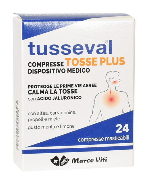 TUSSEVAL TOSSE PLUS 24 COMPRESSE - Farmacia Bartoli