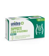 UNIDEA SUPPOSTE GLICEROLO 2500MG 18 PEZZI - Farmaciasvoshop.it