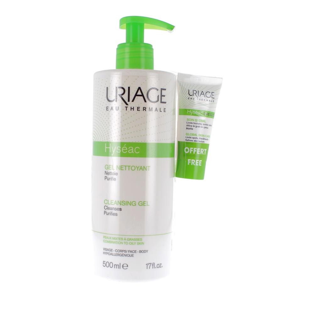 Uriage Promo Hyseac Gel Detergente 500ml + 3 Regul 15ml