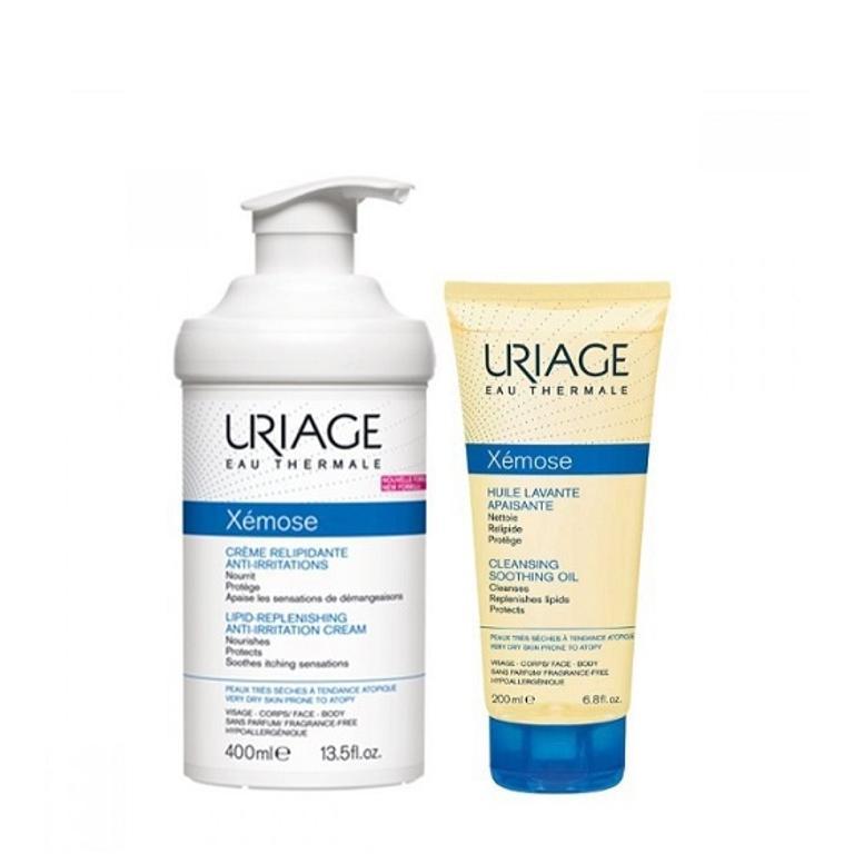 Uriage Xemose Crema Liporestitutiva 400ml+ Olio 200ml - Iltuobenessereonline.it