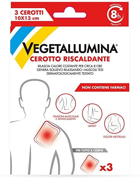 VEGETALLUMINA  CEROTTO RISCALDANTE  3 CEROTTI - Iltuobenessereonline.it