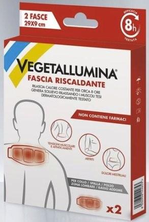 VEGETALLUMINA FASCIA RISCALDANTE  29X9CM 2 PEZZI - Iltuobenessereonline.it