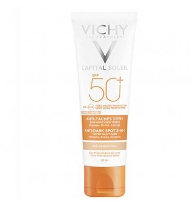 Vichy Capital Soleil Crema Vellutata Perfezionatrice Di Pelle Spf 50+ Creme Solari - Protezione Viso 50ml - Farmafamily.it