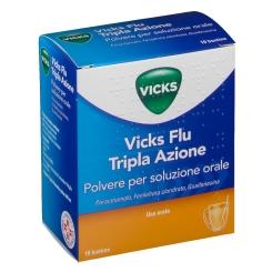 Vicks Flu Tripla Azione Polvere 10 Bustine - Farmalilla